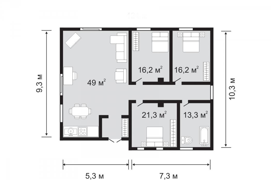 Продам дом 125,6 кв.м в закрытом поселке, Б.Кротова (12 квартал) - Фото 6