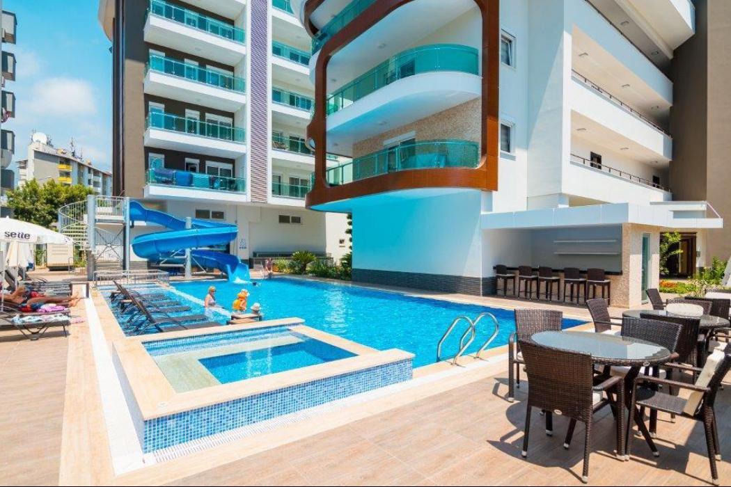 Лот 007. Апартаменты в самом центре г.Аланьи, всего в 3 минутах от пляжа Клеопатры - Фото 1