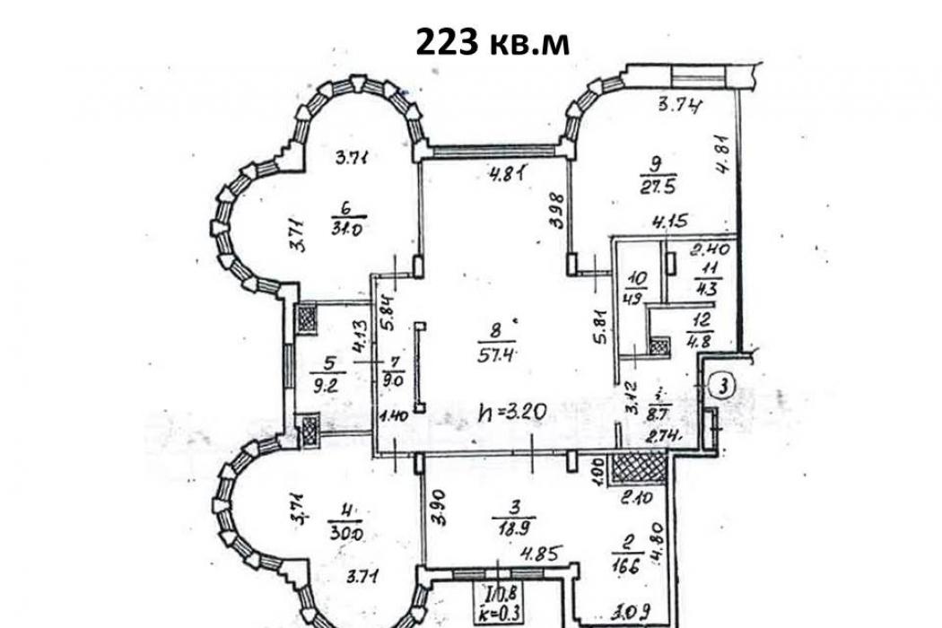 Элитная 4-ком. квартира, ЖК «Садовый», ул. Старокозацкая, 52 Б (223 кв.м) - Фото 10