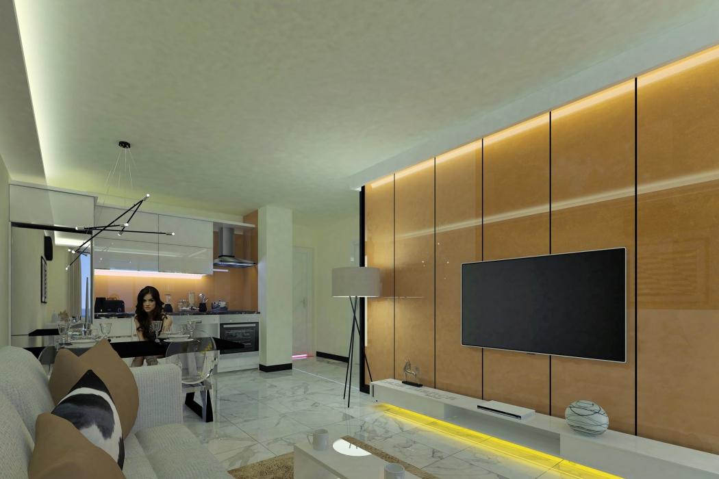Лот 002. Апартаменты в жилом комплексе класса люкс в Махмутларе, г.Аланья - Фото 15